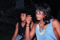 jeunes indigènes indiens du Brésil Photographie stock