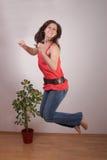 jeunes joyeux de femme Photographie stock libre de droits