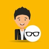 Jeunes lunettes de soleil de célébration de jour de pères de garçon Images libres de droits