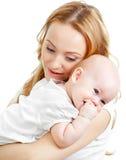 Jeunes mère et chéri heureuses photos stock