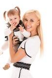 Jeunes mère et descendant Images libres de droits