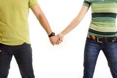 Jeunes mains de fixation de couples photo libre de droits