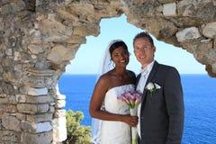 Jeunes mariée et marié Photographie stock