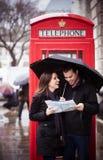 Jeunes-mariés à Londres Image stock