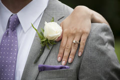 Jeunes mariés Image libre de droits