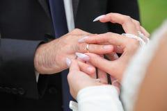 Jeunes mariés Photos libres de droits