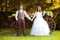 Jeunes mariés Image stock
