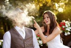 Jeunes mariés Photo stock
