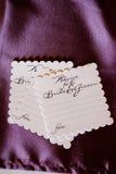 Jeunes mariés Advice Cards Photo stock