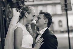 Jeunes mariés avant le mariage photo libre de droits