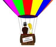 Jeunes mariés Balloon Image libre de droits