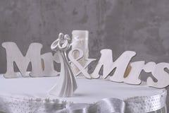 Jeunes mariés de figurine Photo libre de droits
