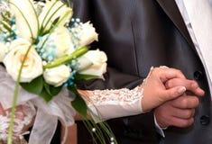 Jeunes mariés de pair Image stock