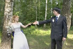 Jeunes mariée et marié Image stock