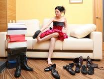 jeunes modèles attrayants Photographie stock libre de droits