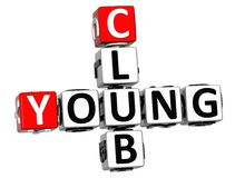 jeunes mots croisé du club 3D Photos libres de droits