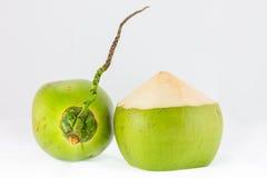 Jeunes noix de coco sur le fond blanc Photographie stock