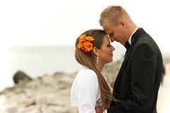 Jeunes nouveaux mariés Images libres de droits