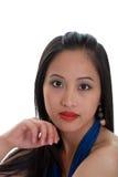 jeunes orientaux de femme de verticale Photos libres de droits