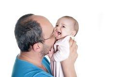 Jeunes père et chéri Image stock