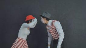 Jeunes pantomimes photographiés Photo libre de droits