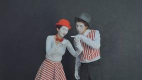 Jeunes pantomimes photographiés Photos libres de droits