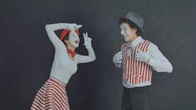 Jeunes pantomimes photographiés Image stock