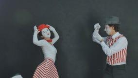 Jeunes pantomimes photographiés Photos stock