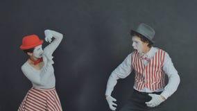 Jeunes pantomimes photographiés Image libre de droits