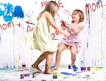 Jeunes peintres photographie stock