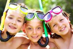 Jeunes plongeurs image stock