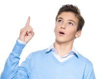 Jeunes points de type par le doigt Image libre de droits