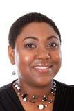 jeunes sains de femme de verticale d'afro-américain Images libres de droits