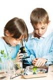 Jeunes scientifiques images stock
