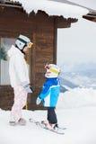 Jeunes skieurs. Images libres de droits