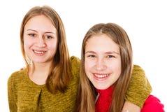Jeunes soeurs heureuses Photographie stock