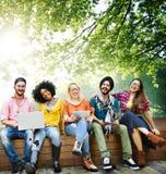 Jeunes Team Together Cheerful Concept d'adolescents Image libre de droits