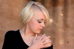 jeunes timides de femme Photo stock