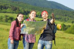 Jeunes touristes d'amis Images stock