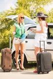 Jeunes touristes féminins Images stock
