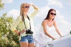 Jeunes touristes féminins Photos stock