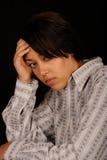 jeunes tristes de femme Photographie stock
