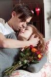 Jeunes, un couple affectueux Photographie stock
