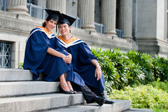 Jeunes universitaires Photos libres de droits