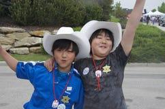 Jeunes ventilateurs de ruée de Calgary Image stock