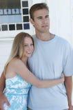 Jeunes verticales de couples Image libre de droits