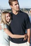 Jeunes verticales de couples Photo stock