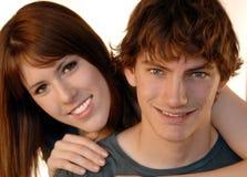 Jeunes visages de couples Images libres de droits