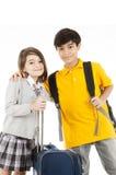 Jeunes voyageurs image libre de droits