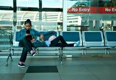 Jeunes voyageurs Images libres de droits